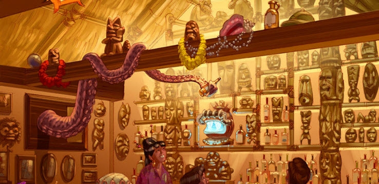 Concept Art for Trader Sam's at Disney's Polynesian Resort