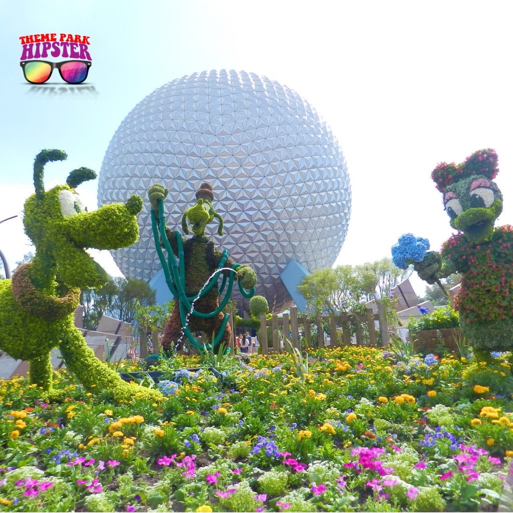 Epcot Flower & Garden Festival with Goof, Pluto, and Daisy Duck Topiaries
