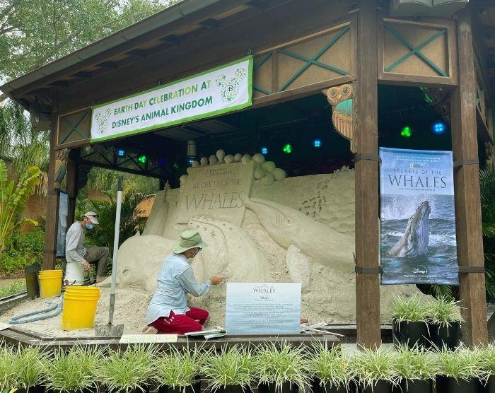 Animal Kingdom Sandcastle for Earth Day at Disney