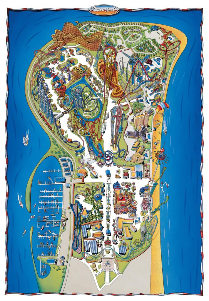 Cedar Point Park Map