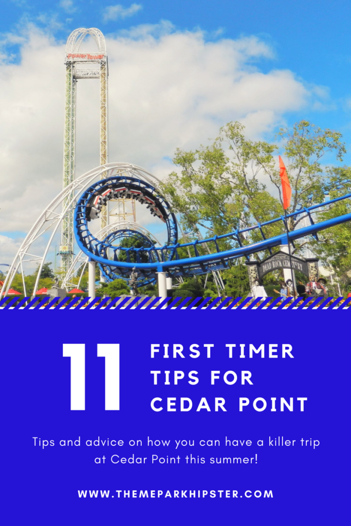 Cedar point tips with blue corkscrew roller coaster.