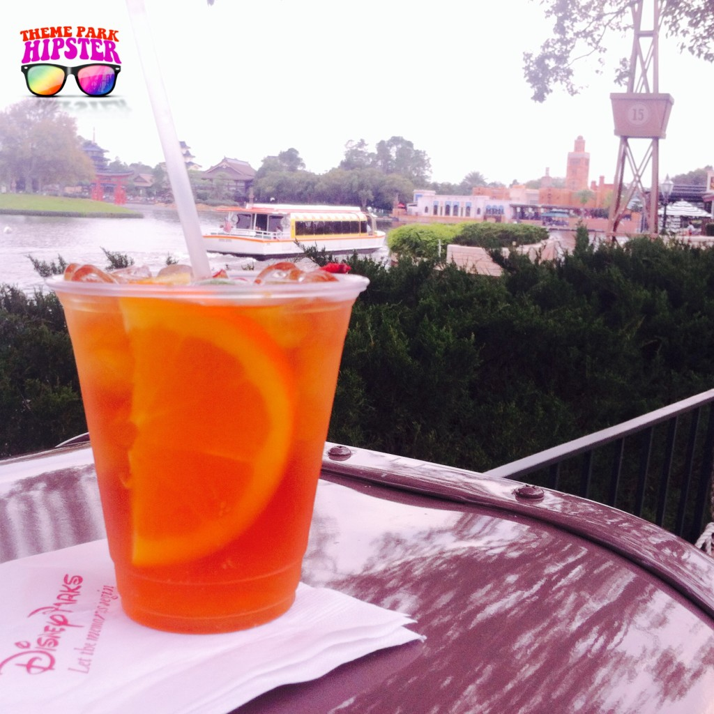 Pimm's Cup at Rose & Crown Pub in Epcot