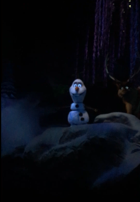 Epcot Frozen Ride with Olaf Snowman