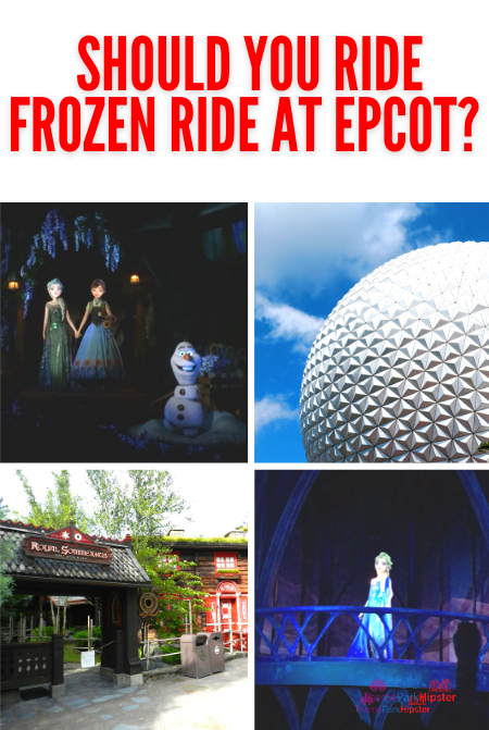Frozen Ride at Epcot with Ana and Elsa