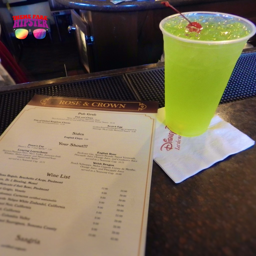 Green Leaping Leprechaun Drink at Rose & Crown, Epcot