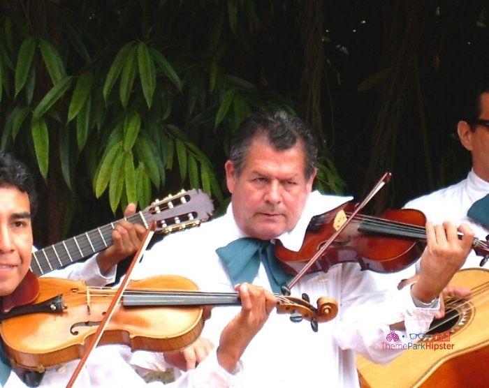 Mariachi Cobre Band at Epcot with Violins and Guitar