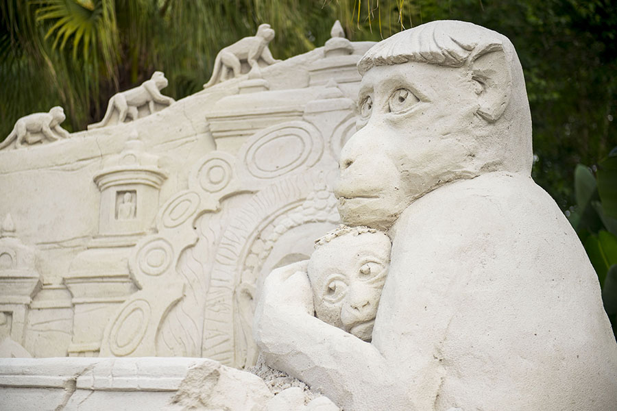 Monkey Kingdom Disneynature Sand Sculpture