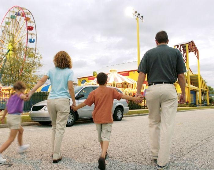 Morris Family Arriving at Horrorland