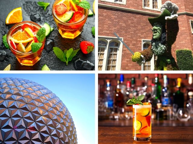 Pimms Cup Recipe and Cocktail at Disney Epcot Theme Park