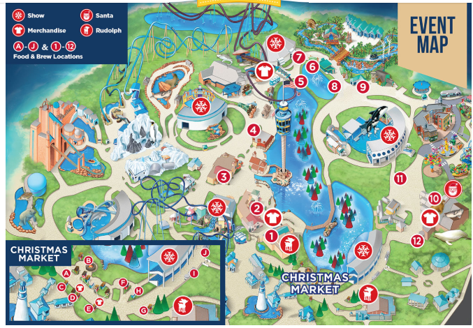 SeaWorld Christmas Celebration Map