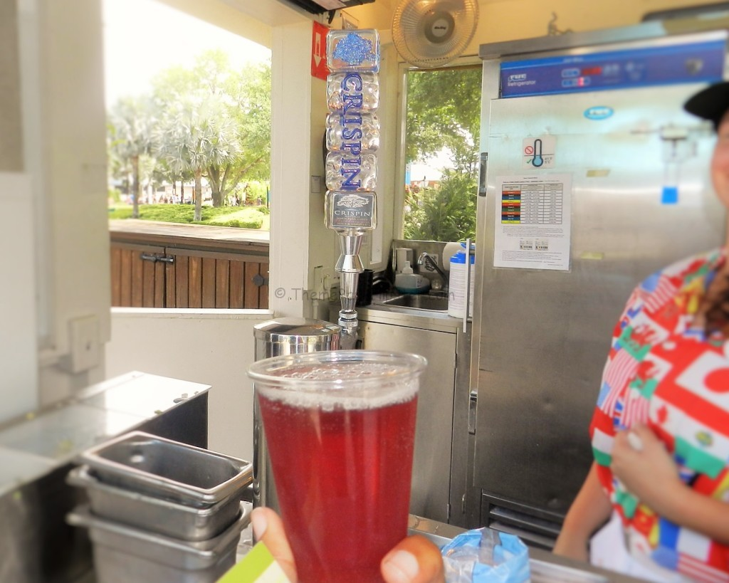 Crispin Blackberry Pear Cider at Epcot Flower and Garden Festival