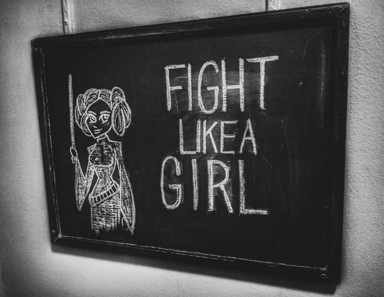 Fight like a girl princess from star wars