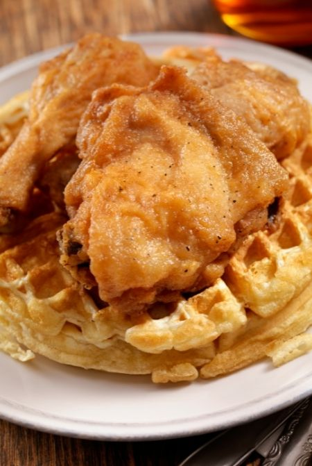 Chicken and Waffle at Grand Floridian Resort. Best Breakfast at Disney World.
