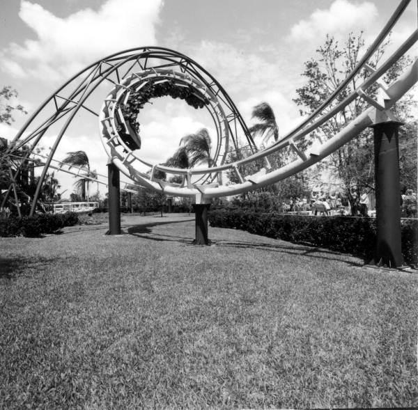 Python Roller Coaster Busch Gardens 1976