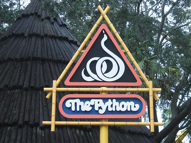 Python Entrance in Congo Section of Busch Gardens Photo: Theme Park Review