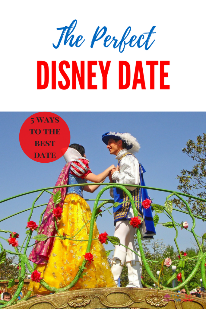 The Perfect Disney Date with Snow White and Prince Charming on Parade Float. Romantic Things to Do at Walt Disney World.