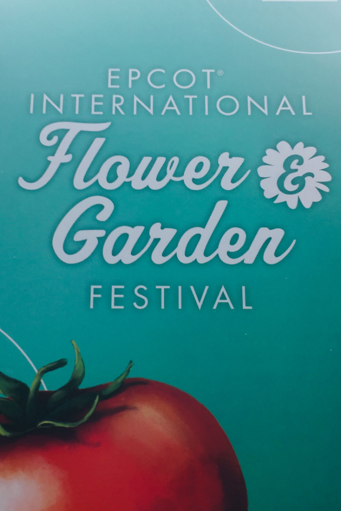 Epcot Flower and Garden Festival Map and Passport