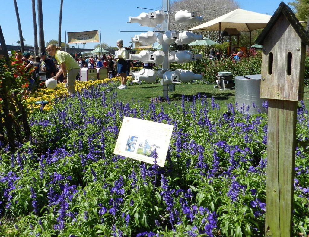 Purple Flower Garden at the Epcot Flower and Garden Festival 2016