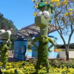 Flower and Garden Festival with Phineas and Ferb topiary