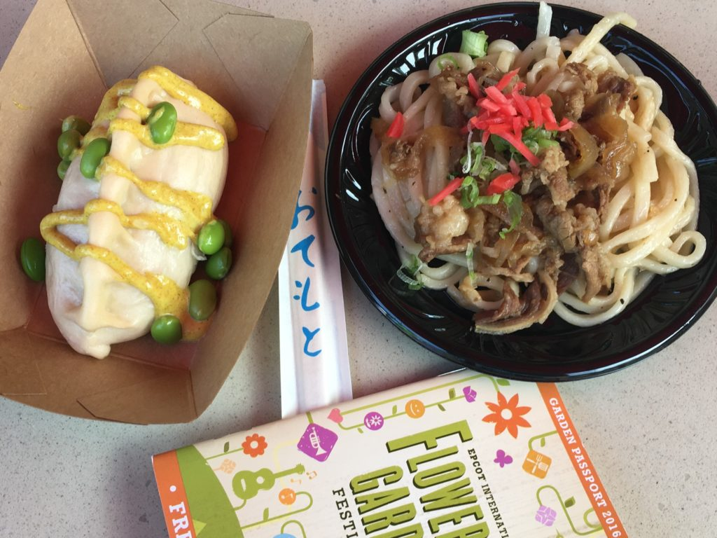japan pavilion flower and garden festival food with udon noodles.