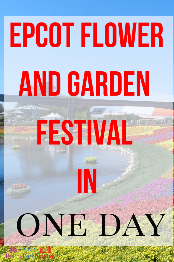 Epcot flower and garden festival in one day with gardens and topiaries. #epcot