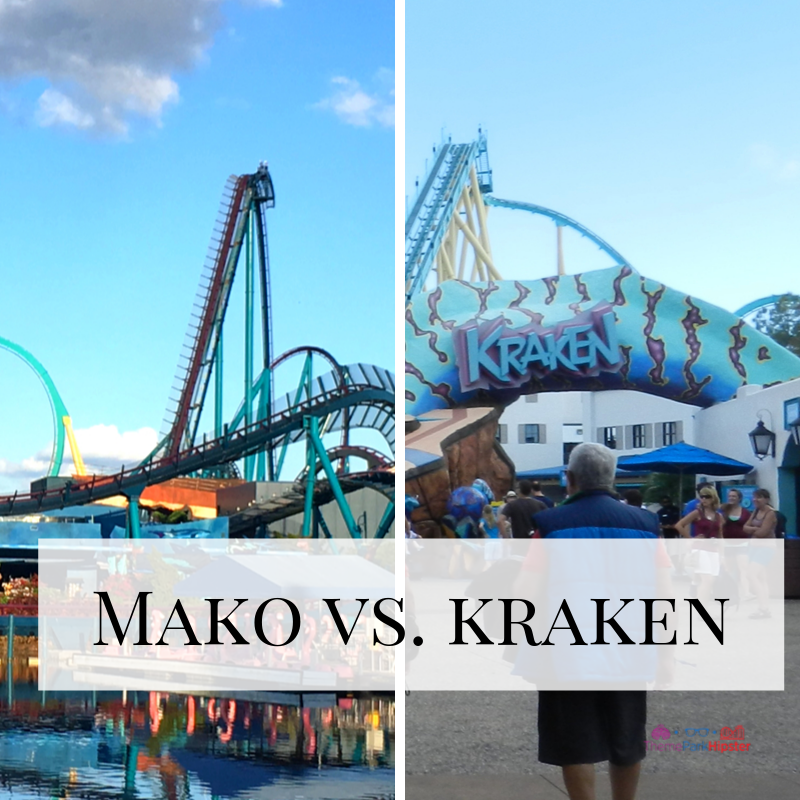 Mako vs. kraken Rides at SeaWorld Orlando
