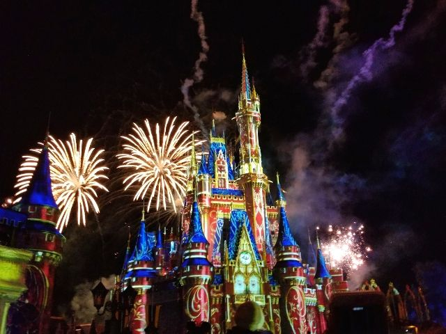 Happily Ever After Fireworks Show at Magic Kingdom Disney World Orlando Florida