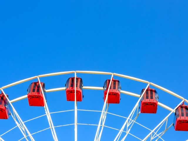 Self-Doubt Quotes with red Ferris wheel