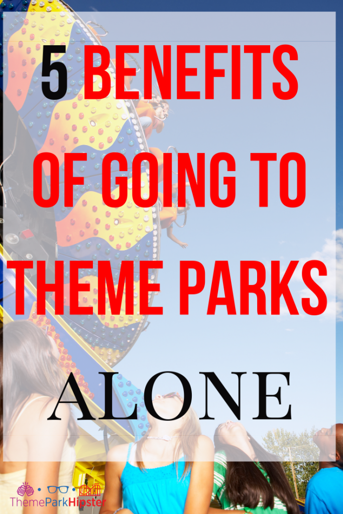 How to go to theme parks alone with amusement park ride