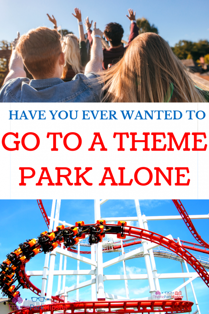 Go to a Theme Park Alone with Red Roller Coaster