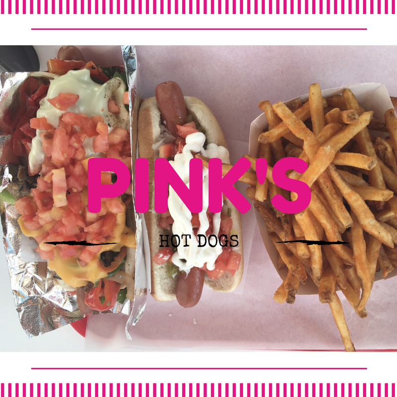 PINKS loaded Hot Dogs with fries in California anf Cedar Point
