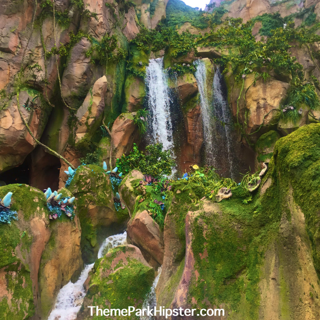 Disney Pandora The World of Avatar Floating Mountains with Water Fall coming down.