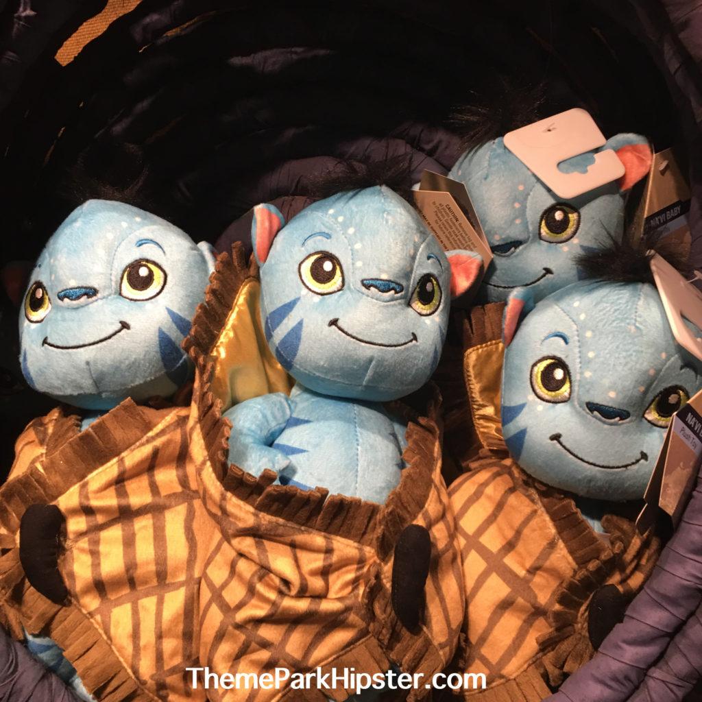 Pandora the World of Avatar merchandise with Na'vi baby stuffed animals.