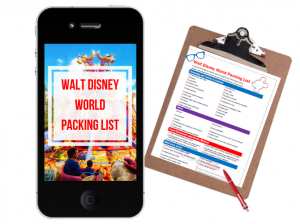Disney Packing List on Clipboard. #disneytips #disneypackinglist