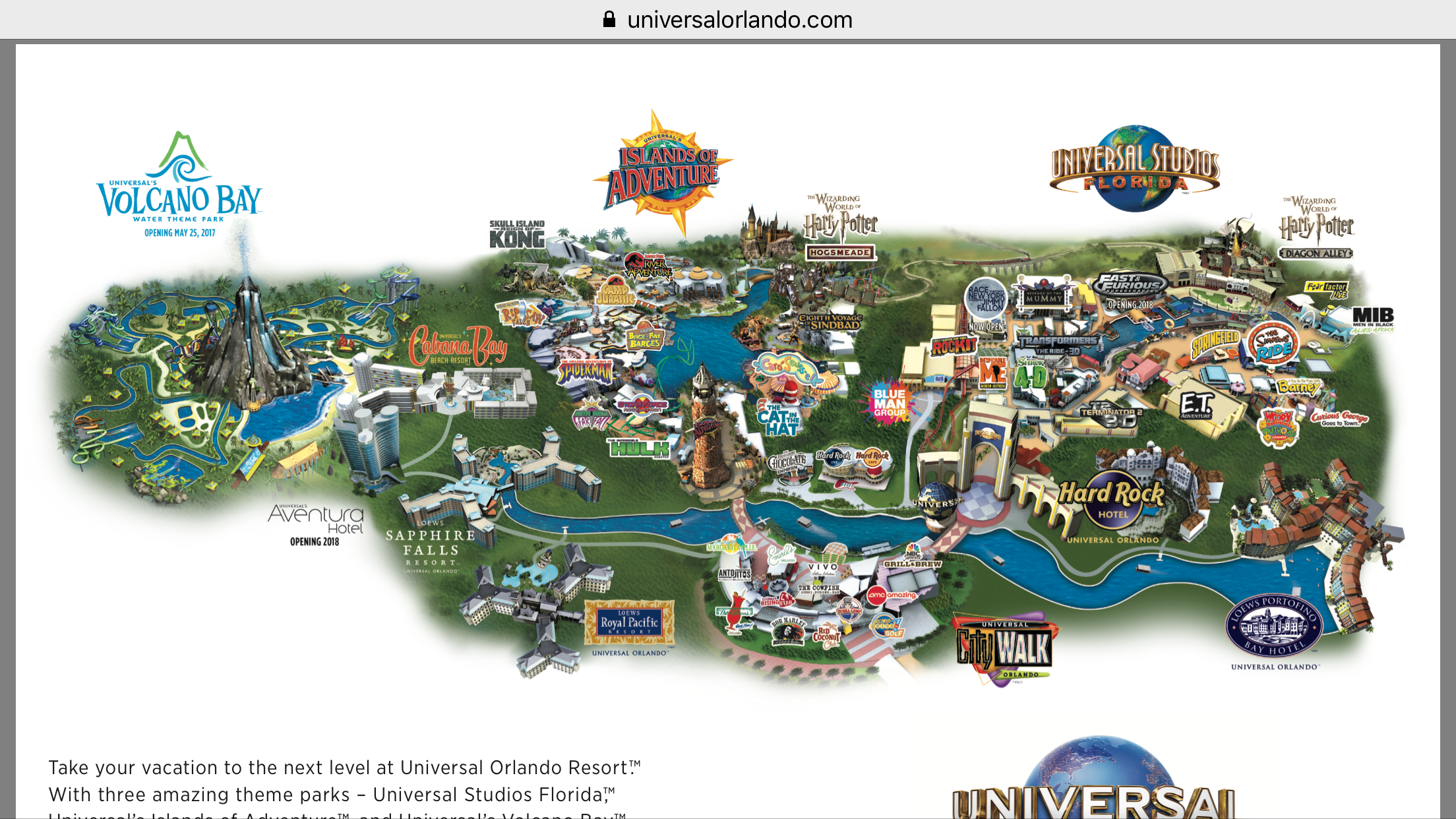 Universal Orlando Map 2015 Universal Orlando Resort Map   ThemeParkHipster