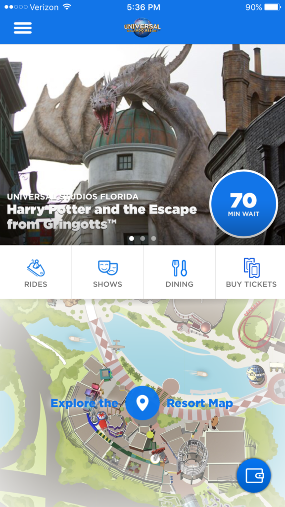 Universal Orlando Resort App