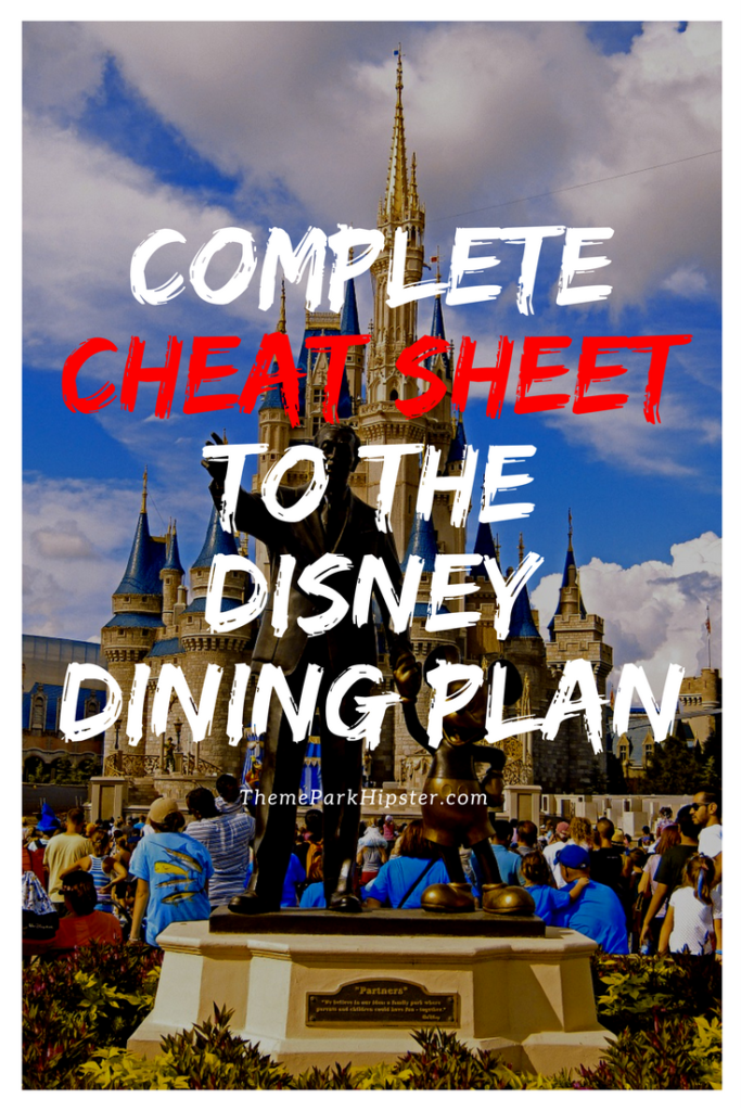 Cheat sheet to Disney's Dining Plan