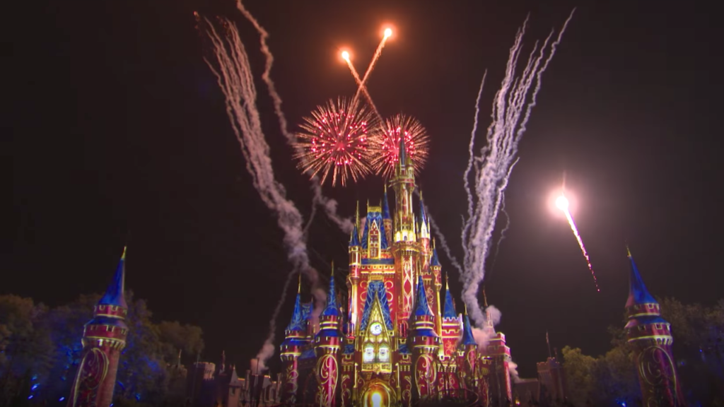 Happily Ever After Fireworks Show in front of Cinderella Castle at Magic Kingdom