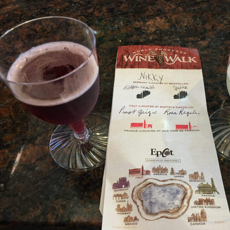 Rosa Regale Wine Walk at Epcot