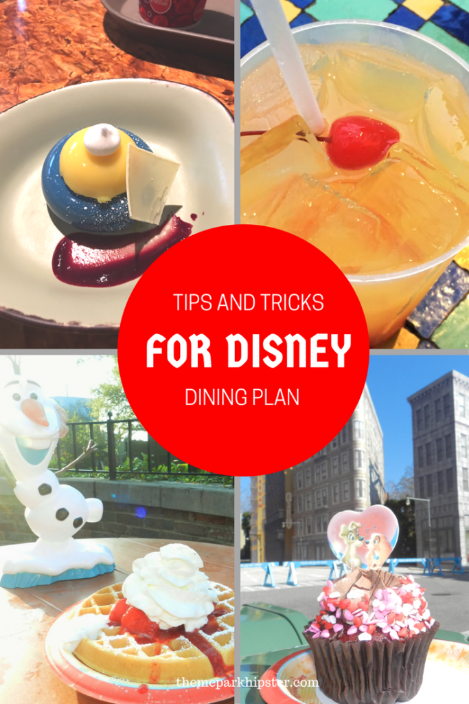 Disney Dining Plan tips.