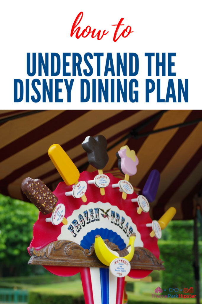 How to understand the disney dining plan. Colorful frozen disney treats.