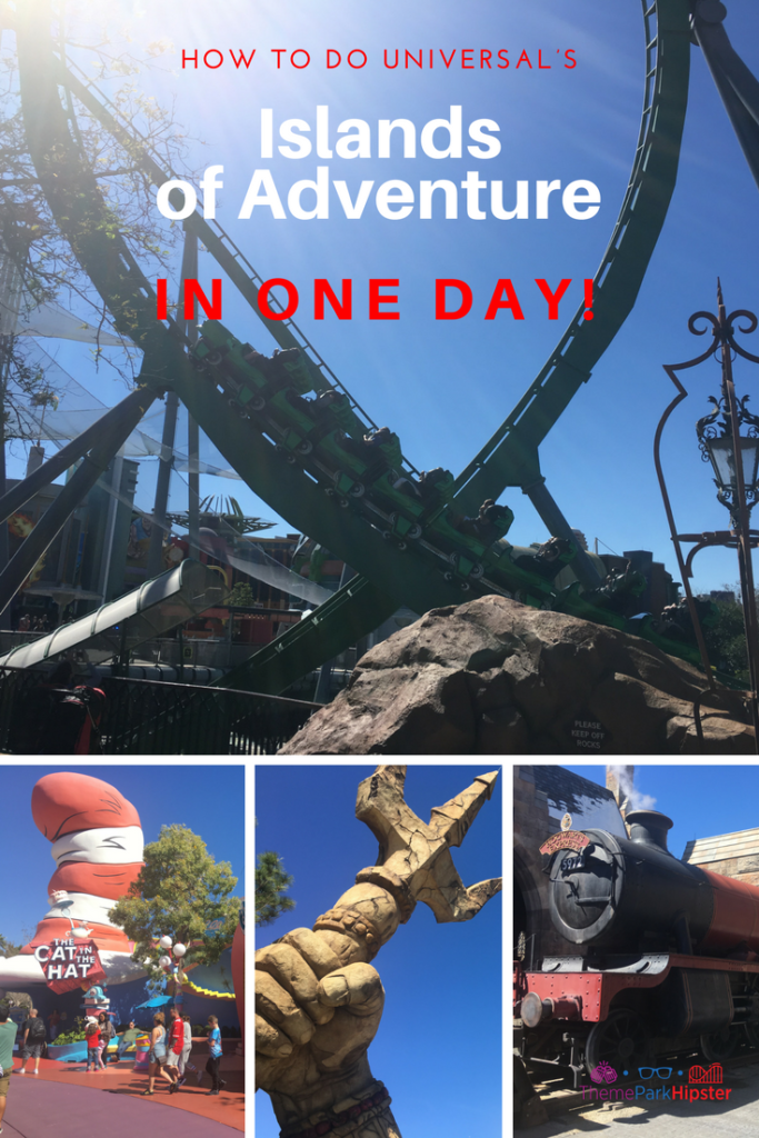 How to do Islands of Adventure in one day with green Incredible Hulk Roller Coaster
