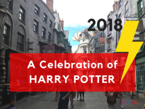 2018 celebration of harry potter with lightning bolt