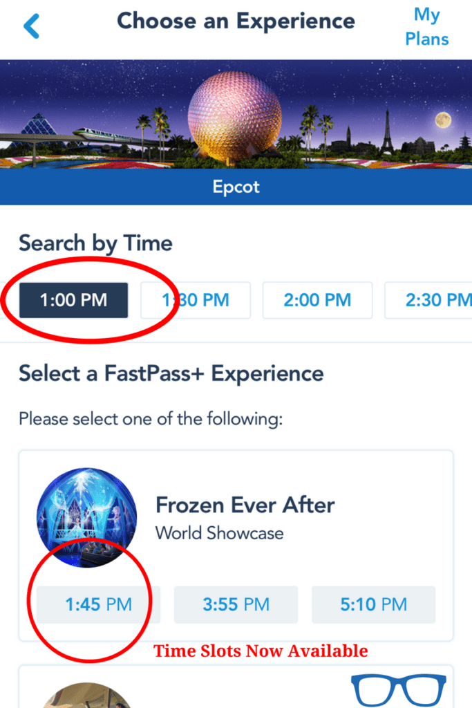 FastPass Tips on My Disney Experience App