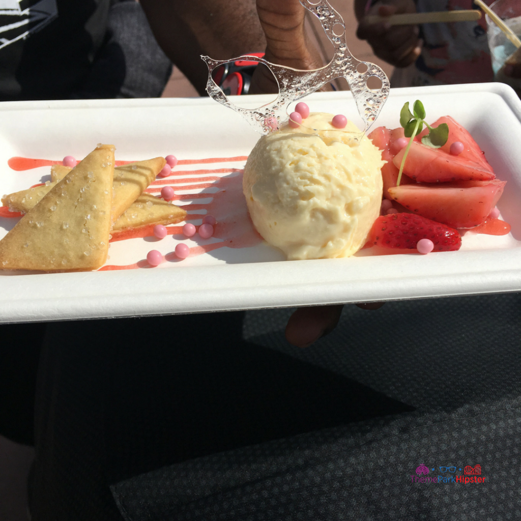 Festival of the Arts Deconstructed Strawberry Cheesecake #disney #epcot #epcotfestivals