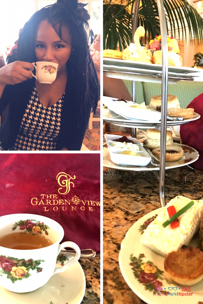 Garden View Tea Room Disney Grand Floridian. Sweet scones, warm tea, and bite-size cream sandwiches.
