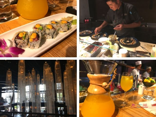 Morimoto Asia in Disney Springs with Saki Sangria and Sushi. Disney World Bucket List.