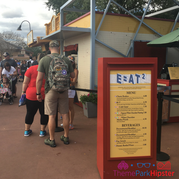 Festival of the arts food lines for food. #disney #epcot #epcotfestivals
