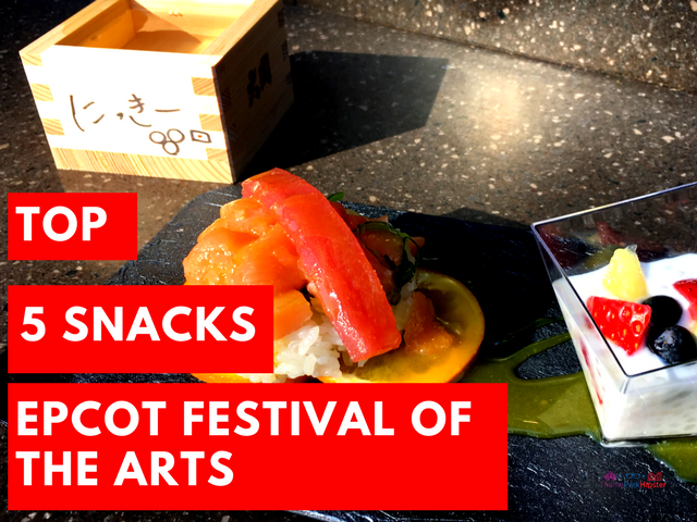top 5 snacks epcot festival of the arts