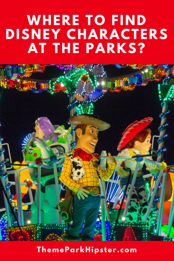 Toy story characters easy to find in disney parks
